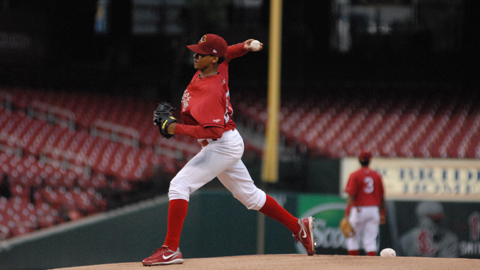 Carlos Martinez went five innings allowing just one run on seven hits while striking out five.