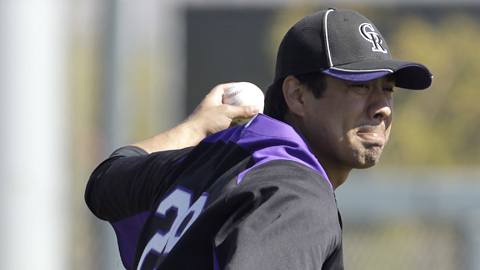 Jorge De La Rosa last pitched in the Minors in 2010 with Colorado Springs.